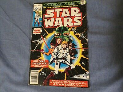 Star Wars #1 (1977) First Issue; First Printing; Star Wars, Part 1 MARVEL COMIC