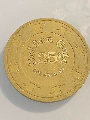 GOLDEN GATE $.25 Casino Chips Las Vegas Nevada 3.99 Shipping
