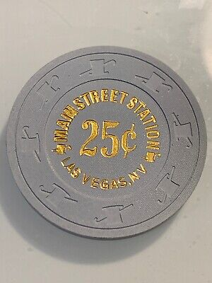 MAIN STREET STATION $.25 Casino Chip LAS VEGAS Nevada 3.99 Shipping