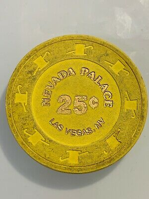NEVADA PALACE $.25 Casino Chip LAS VEGAS Nevada 3.99 Shipping
