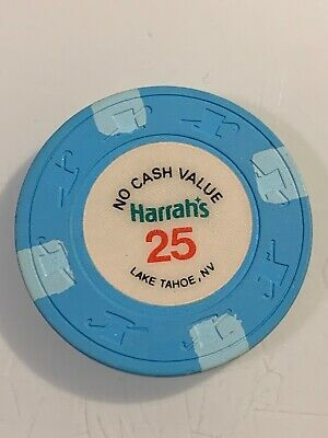 HARRAHS $25 NCV Casino Chip LAKE TAHOE Nevada 3.99 Shipping