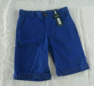 Baker By Ted Baker Boys Nautical Blue Shorts Size 12 Bermuda Anchor Adjustable