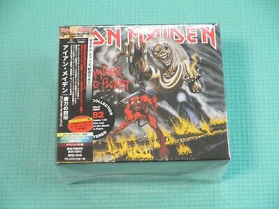 IRON MAIDEN Number Of The Beast w/Figure BOX Japan NEW WPCR-18145 OBI