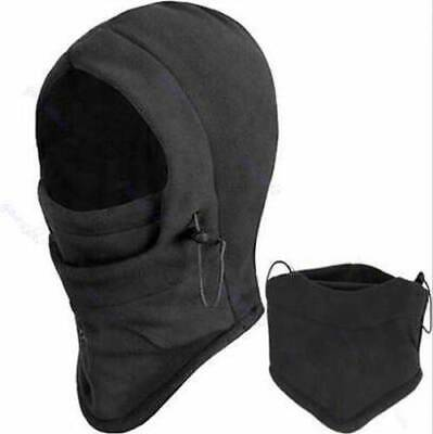 Unisex Polar Fleece Hood Hat Beanie Ski Snow Cap Snood Scarf Thermal  Warmer NEW