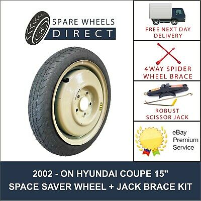 "2002 -On Hyundai Coupe 15"" Spare Space Saver Wheel + Jack Kit (Mz2)"