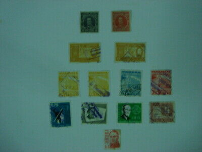 A small selection of 13 old used stamps from Venezuela