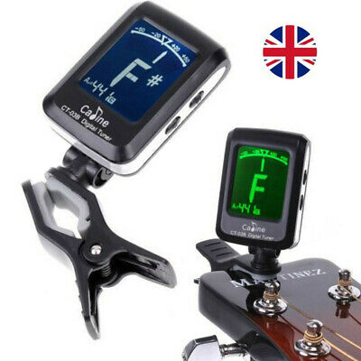 UK Clip-on LCD Digital Tuner With 360° Clip For Acoustic Electric Guitar Bass