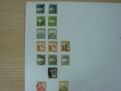 A small selection of 15 old used stamps from Palestine