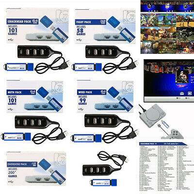 32G/64G/128G For Playstation for PS1 Meth/Weed/Crackhead Pack Built-in Games UK