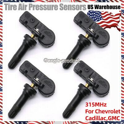 For GM TPMS 13586335 Tire Pressure Sensor For Chevy GMC Buick Set of (4) 315MHz
