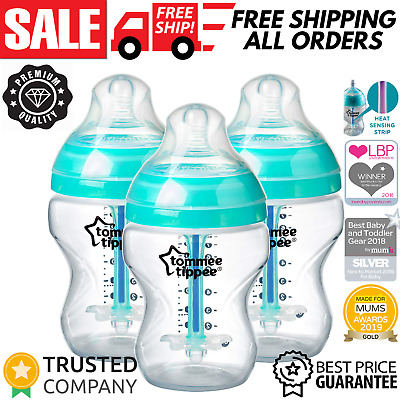 Tommee Tippee Advanced Bottles Anti-Colic Baby Feeding Bottle BPA Free 3x 260ml