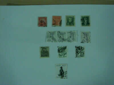 A small selection of 12 old used stamps from Brazil