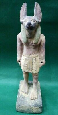 ANCIENT EGYPTIAN ANTIQUES Wood Statue Of God ANUBIS Dead Underworld 1840-1760 BC