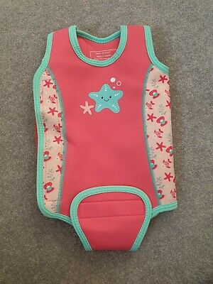 Mothercare Baby Girls Neoprene Wrap Around Swimsuit wetsuit Size age 6-12 Months
