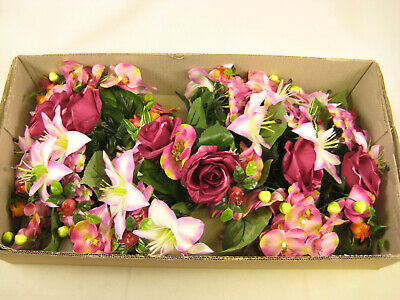 6x Wholesale Job Lot Artificial Flowers Lily Rose Orchid Arrangement Centrepiece