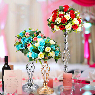 FJ- Metal Candle Holders Flower Vase Rack Stick Wedding Home Party Candle Stand
