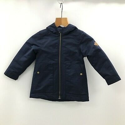 JOULES Navy Blue Fleece Lined Hood Zip Casual Jacket Girls Age 5 Years 462237