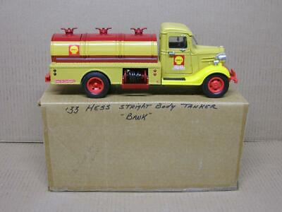 Custom Shell First Hess Truck Bank with Box