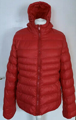 Girls Red Hooded Puffer Puffa Jacket Coat By Pep&Co  Age 16 Size (UK 10)