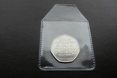 2020 'UK BREXIT 1 x 50p COIN' UNCIRCULATED     !!Free P&P!!              M2