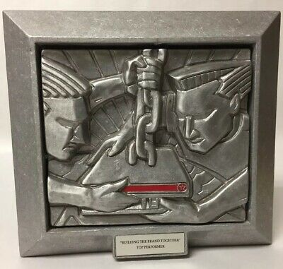Texaco Building The Brand Together Limited-Edition Cast Metal Sculpture #