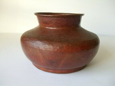Old Native American Hand Hammered Copper Pot No Seams