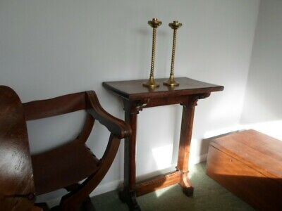 Gothic Revival oak side table Pugin/Church style