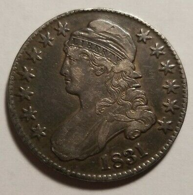1831 Capped Bust Half Dollar Silver XF Extremely Fine Sm Scratch on Reverse