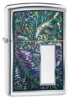 Zippo Colorful Venetian High Polish Chrome Windproof Pocket Lighter, 49139