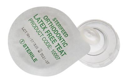 Sterifeed Orthodontic Sterile Baby Teats - Disposable, Latex Free, Pack of 100