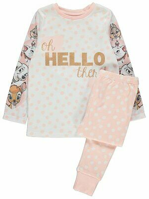 Disney Polka Dot Girls Pyjamas - 'Hello There' - Bambi, Thumper - (2 to 5 years)