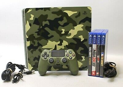 Sony Playstation 4 PS4 Slim 1TB Console - CoD WW2 Edition w/ 4 Games CUH-2115B