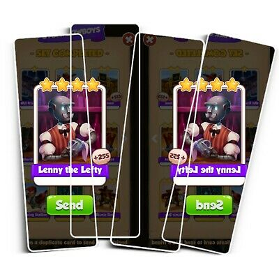 10x Lenny the Lefty  Coin Master Cards ( Fastest Delivery)
