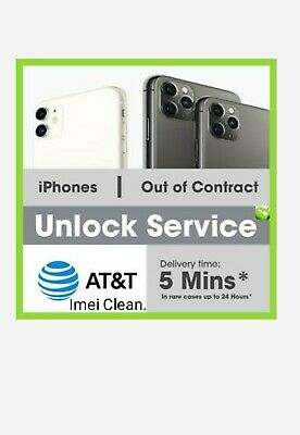 Premium FACTORY UNLOCK SERVICE AT&T CODE ATT for IPhone 11, 11 Pro,11 Pro Max,Xs