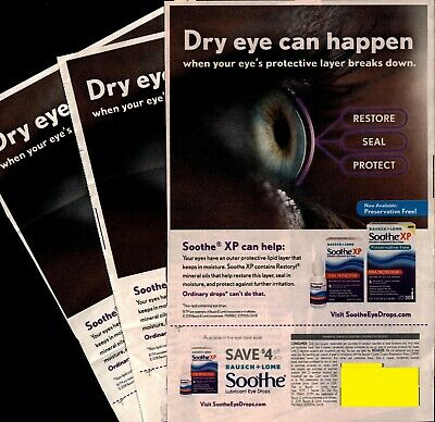 Save $4.00 on any BAUSCH+LOMB Soothe Lubricant Eye Drops COUPONS x3. 12/31/2021