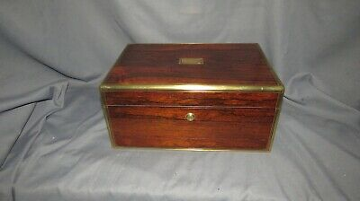 A LARGE FINE QUALITY 19th CENTURY ROSEWOOD JEWELLERY BOX