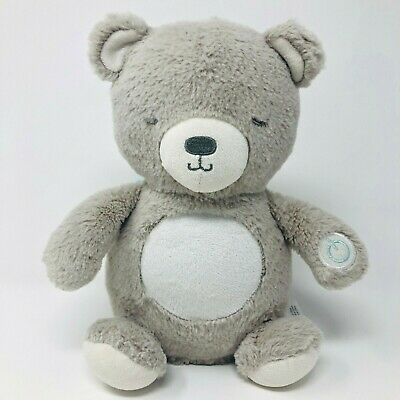 Carters Gray Bear Soother Plush Sound Music Lights Stuffed Baby Crib Toy Lovey