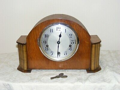 Vintage Mantel Clock  Westminster Chiming Clock Enfield Clock With Key Working