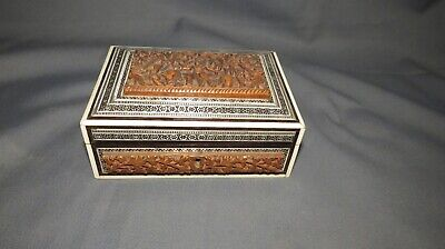 AN ANTIQUE EARLY 20th CENTURY ANGLO INDIAN VIZAGAPATAM BOX