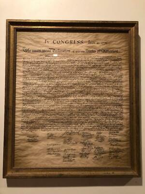 US Declaration of Independence July 4 1776 Replica Parchment - Vintage mint