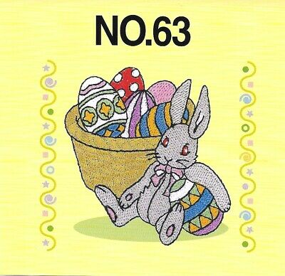 BUNNIES & EASTER #63 Embroidery Card for Brother, Bern. Deco, Baby Lock .pes