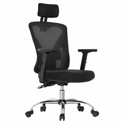 Hbada Ergonomic Office Desk Chair with Adjustable Armrest Lumbar Support Head...