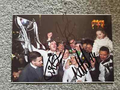 Multi Signed St Mirren League Cup Celebration Photo John Mcginn Cup Winners