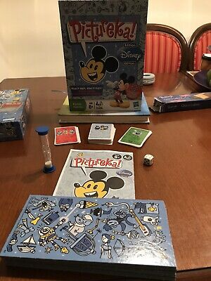 Pictureka! Disney Edition Family Board Picture Hunt Game Hasbro 2009 Parker