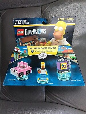 Lego Dimensions SIMPSONS LEVEL PACK 71202 98 PCS BRAND NEW