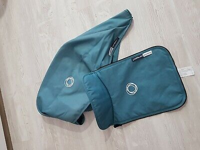 Bugaboo cameleon 3 petrol blue hood and apron fabric Only !!