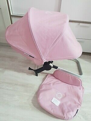 Bugaboo donkey soft pink extandable hood and apron fabric Only!!