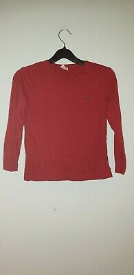 Zara Boys Top Age 7 Years Red