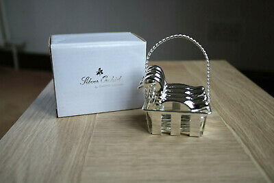 Four Silver Plated Duck Napkin Rings In Carrying Basket