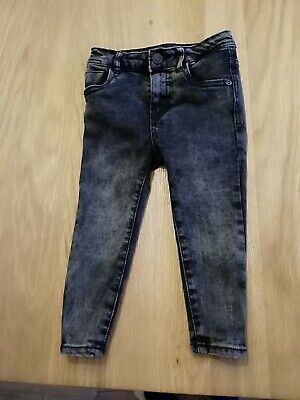 Great Pair Of Boys Black Jeans By Zara, Age 4!!